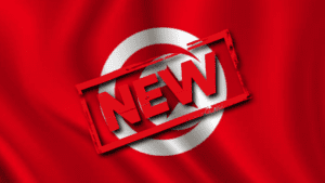 Picture of Tunisian Flag with New Stamp
