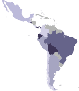 Outline Map of Latin America