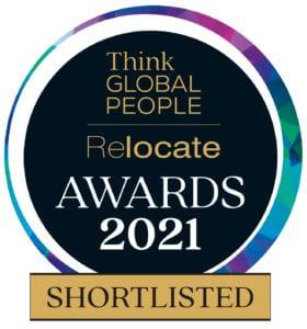 Shorlisted logo for Relocate awards
